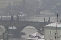 Karlův most through the frosty mist