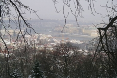 A frosty Prague from Petřín hill