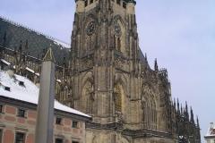 St Vitas Cathedral dwarfs Plečnik's obelisk