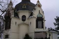Hanavský pavilion in the snow