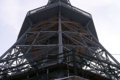 The Eiffel Tower stands tall on Petřín