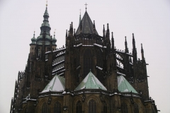 The imposing eastern façade of St Vitas Cathedral