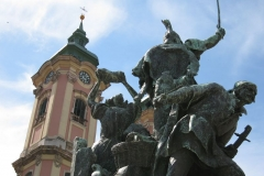 Dobó fights the Turks before the Minorite Church