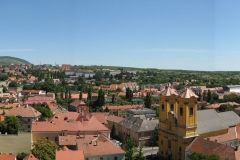 The panoramic roofscape of Eger