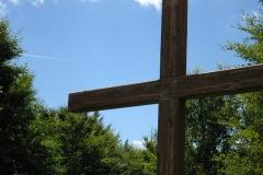 A cross frames the sky on Mount Istállóskő