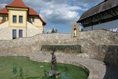 A park opposite the Aladár Bitskey swimming pool