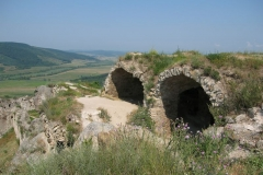 The crumbling remains of the ancient castle at Sirok