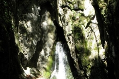 The sun hits a fresh-water spring in Szalajka Volgy