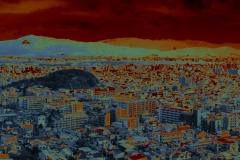 Kyoto panorama - coloured