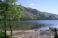 The hills reflect in the still waters of Buttermere
