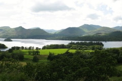 Taking in the view: the panorama of Derwent Water