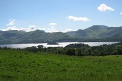 Derwent Water on a bright summer day