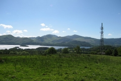 Communication: a telecoms mast above Derwent Water