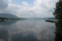 Looking out over Ullswater by the Pooley Bridge pier