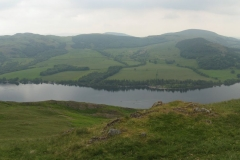 The panoramic view of Ullswater from Hallin Fell
