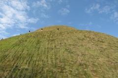 Kościuszko Mound rises into the sky