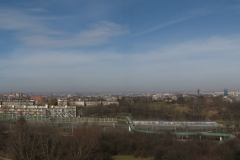 The panorama of Kraków from Krakus Mound