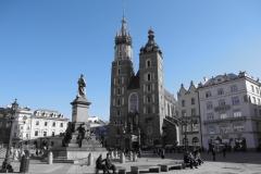 Shades of blue: Rynek Główny, Kraków