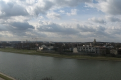 The panorama of the Vistula river from Wawel Hill