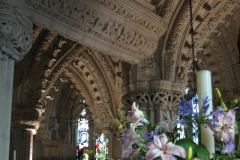 Some of Rosslyn's intricate stone carvings