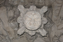 "The famous ""Green man"" carving"