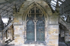 Exterior of the great east window