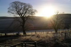 A watery sunrise over Gallow Law