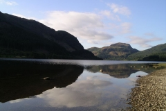 The hills reflect in the still water of Loch Lubnaig