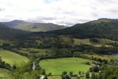 Looking down on the eastern shore of Loch Voil