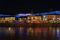The lights of Clarke Quay
