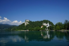 Across the water to Bled castle