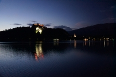 Bled Castle at night 1