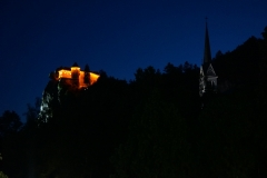Bled Castle at night 2