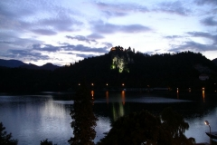 Dusk over Bled castle