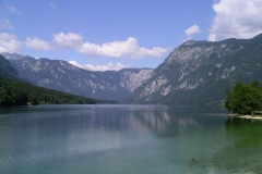 Morning on the shore of Lake Bohinj