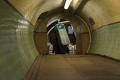 Tyne pedestrian tunnel escalators