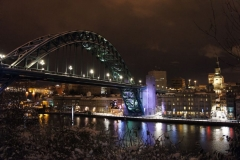 Tyne bridge at night