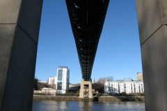 The underside of the Queen Elizabeth II bridge
