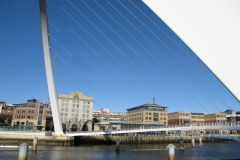 The Gateshead Millennium bridge from Gateshead