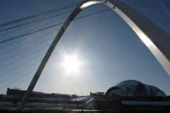 The Gateshead Millennium bridge from Newcastle